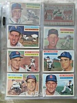 1956 Topps Baseball Near Complete Set (300/340) Mantle + Stars + Hofers Vgex+