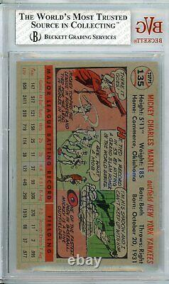 1956 Topps MICKEY MANTLE #135 BVG Grade 7.5+Cond. @HI-END Centered 8 Looks