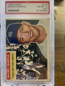 1956 Topps MICKEY MANTLE #135 PSA 8 NM-MT Sharp! HOT DEAL! INVESTMENT