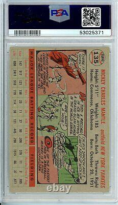 1956 Topps MICKEY MANTLE #135 PSA Grade 7 NM-Cond. @HI-END INVESTMENT PIECE