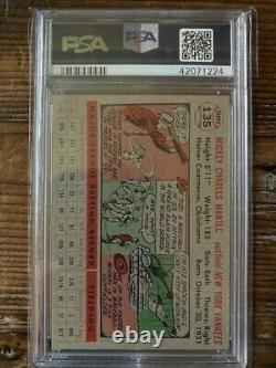 1956 Topps Mickey Mantle #135 EX-MT+ PSA 6.5 Great Card