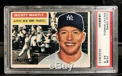 1956 Topps Mickey Mantle #135 HOF New York Yankees (Rare White Back) PSA 5 EX