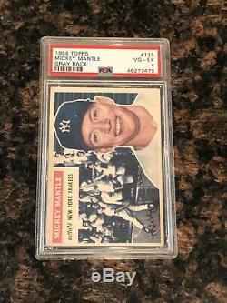 1956 Topps Mickey Mantle #135 New York Yankees Gray Back PSA 4
