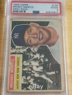 1956 Topps Mickey Mantle #135 PSA 2