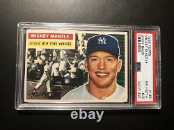 1956 Topps Mickey Mantle #135 PSA 6.5 EXMT+ Freshly Graded Outstanding Quality