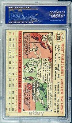 1956 Topps Mickey Mantle #135 PSA 6 EX-MT