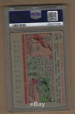 1956 Topps Mickey Mantle # 135 Psa 2