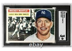 1956 Topps Mickey Mantle #135 SGC 3 Gray Back New York Yankees baseball card HOF
