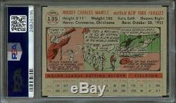 1956 Topps Mickey Mantle #135 (gray Back) Nmmt Psa 8