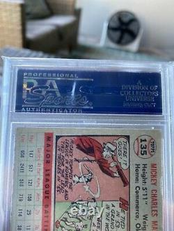 1956 Topps Mickey Mantle Gray Back Card #135 PSA 5.5 EX+