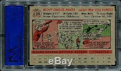 1956 Topps Mickey Mantle Gray Back HOF #135 PSA 5 EX NICELY CENTERED