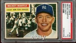 1956 Topps Mickey Mantle PSA 3 VG Gray Back HOF Yankees CENTERED Baseball Card