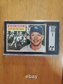 1956 Topps Mickey Mantle SGC 2
