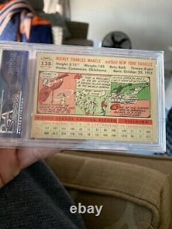 1956 Topps Mickey Mantle White Back Card #135 PSA 5 EX