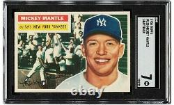 1956 Topps Mickey Mantle sgc 7 nice centering