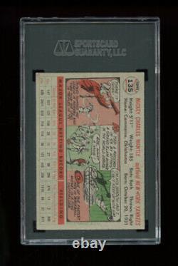 1956 Topps Set Break #135 Mickey Mantle Gray Back SGC 5 EX