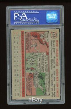 1956 Topps Set Break #135 Mickey Mantle PSA 7 NM