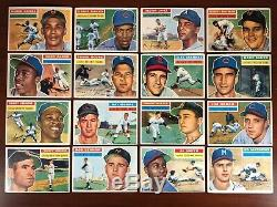 1956 Topps lot (93) Partial Set with PSA Mantle Clemente Aaron Banks HOF PSA 8