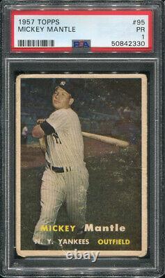 1957 Topps #95 Mickey Mantle Psa 1 (2330)