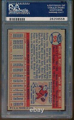 1957 Topps Mickey Mantle #95 PSA 6 ++ CENTERED, Beautiful