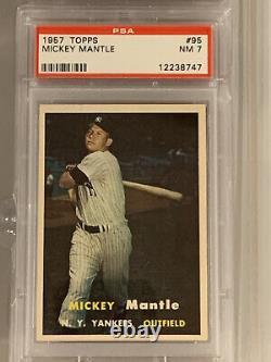 1957 Topps Mickey Mantle #95 PSA 7 NM Near-Mint New York Yankees