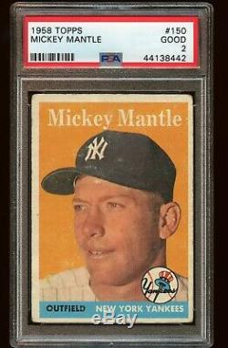 1958 Mickey Mantle Topps #150 PSA 2 The Mick New York Yankees baseball Card