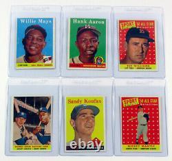 1958 Topps Baseball Set (1-495) Avg Ex/Mt to Nm Mantle Maris RC