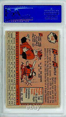 1958 Topps MICKEY MANTLE #150 PSA Grade 8 NM-MT Cond @HI-END GREAT PRICE