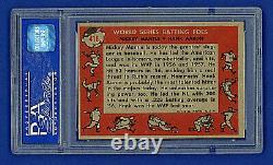 1958 Topps MICKEY MANTLE & HANK AARON (HOF) World Series Batting Foes #418 PSA 6