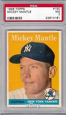 1958 Topps Mickey Mantle #150 PSA 7 ++ with fabulous color