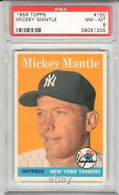 1958 Topps Mickey Mantle #150 PSA 8