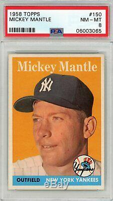 1958 Topps Mickey Mantle #150 PSA 8 P681