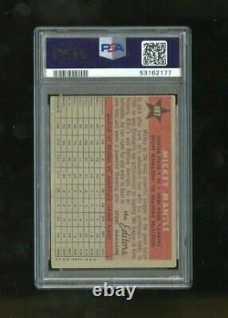 1958 Topps Mickey Mantle All Star #487 Autographed Auto PSA/DNA