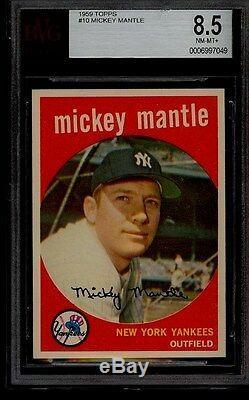 1959 Topps #10 Mickey Mantle Bvg 8.5 Nm-mt+ Ny Yankees Hof Pop 7/1 Graded Higher