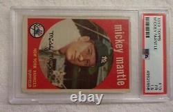 1959 Topps #10 Mickey Mantle (HOF) New York Yankees PSA 1.5 (FR) (Awesome Card)