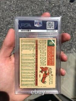 1959 Topps #10 Mickey Mantle New York Yankees HOF PSA 4 VG-EX SWEET