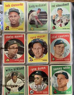 1959 Topps Baseball COMPLETE SET! PSA MANTLE MAYS GIBSON! MOST EX-EX+
