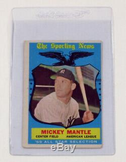 1959 Topps Baseball Complete Set (1-572) Mantle Gibson Mays