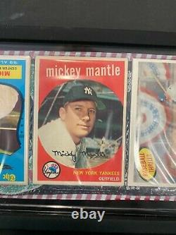 1959 Topps Christmas Rack Pack Graded 3 Mantles Showing #10 #461 #564 NM RARE