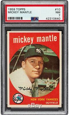1959 Topps Mickey Mantle #10 HOF PSA 7 Centered & High-End