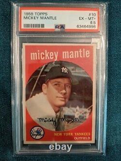 1959 Topps Mickey Mantle #10 PSA 6.5 EX MT+
