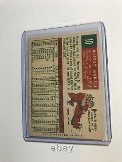 1959 Topps Mickey Mantle Card New York Yankees At Least PSA 5 or 6 Great Corners