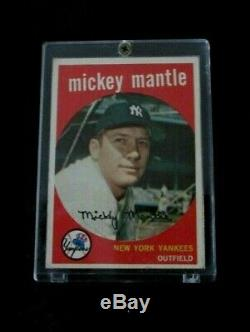 1959 Topps Mickey Mantle NY Yankees Baseball Card #10 EX+