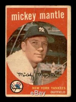 1959 Topps Set Break # 10 Mickey Mantle LOW GRADE MK OBGcards