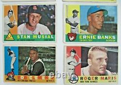 1960 TOPPS BASEBALL COMPLETE SET 572 MANTLE CLEMENTE McCOVEY RC VGEX-