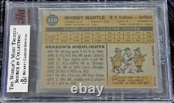 1960 Topps #350 Mickey Mantle (HOF) New York Yankees BVG 5.5 EX+ SHARP