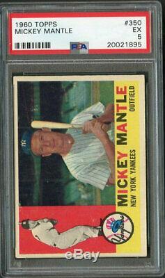 1960 Topps #350 Mickey Mantle HOF PSA 5
