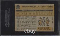 1960 Topps #350 Mickey Mantle HOF SGC 60 EX 5 62148