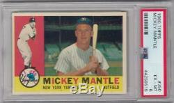 1960 Topps #350 Mickey Mantle Yankees PSA 6 EX-MT