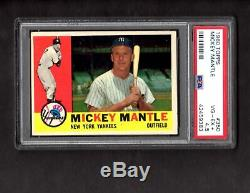 1960 Topps Baseball #350 Mickey Mantle PSA 4.5